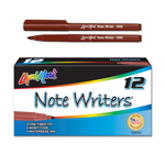 12 ct Note Writers® Fiber Point, Pocket Markers - Brown