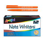 12 ct Note Writers® Fiber Point, Pocket Markers - Orange