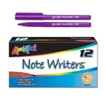 12 ct Note Writers® Fiber Point, Pocket Markers - Purple