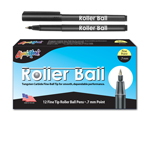 12 ct Roller Ball™, Fine Point Pen - Black