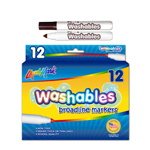 12 ct Broadline Washable Markers - Brown