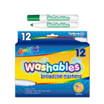 12ct  Broadline Washable Markers - Green