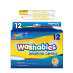 12 ct Broadline Washable Markers - Yellow