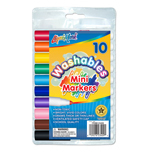 10 ct Mini Broadline Washable Markers - Assorted