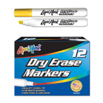 12 ct Broadline, Chisel Tip Dry Erase Markers- Yellow