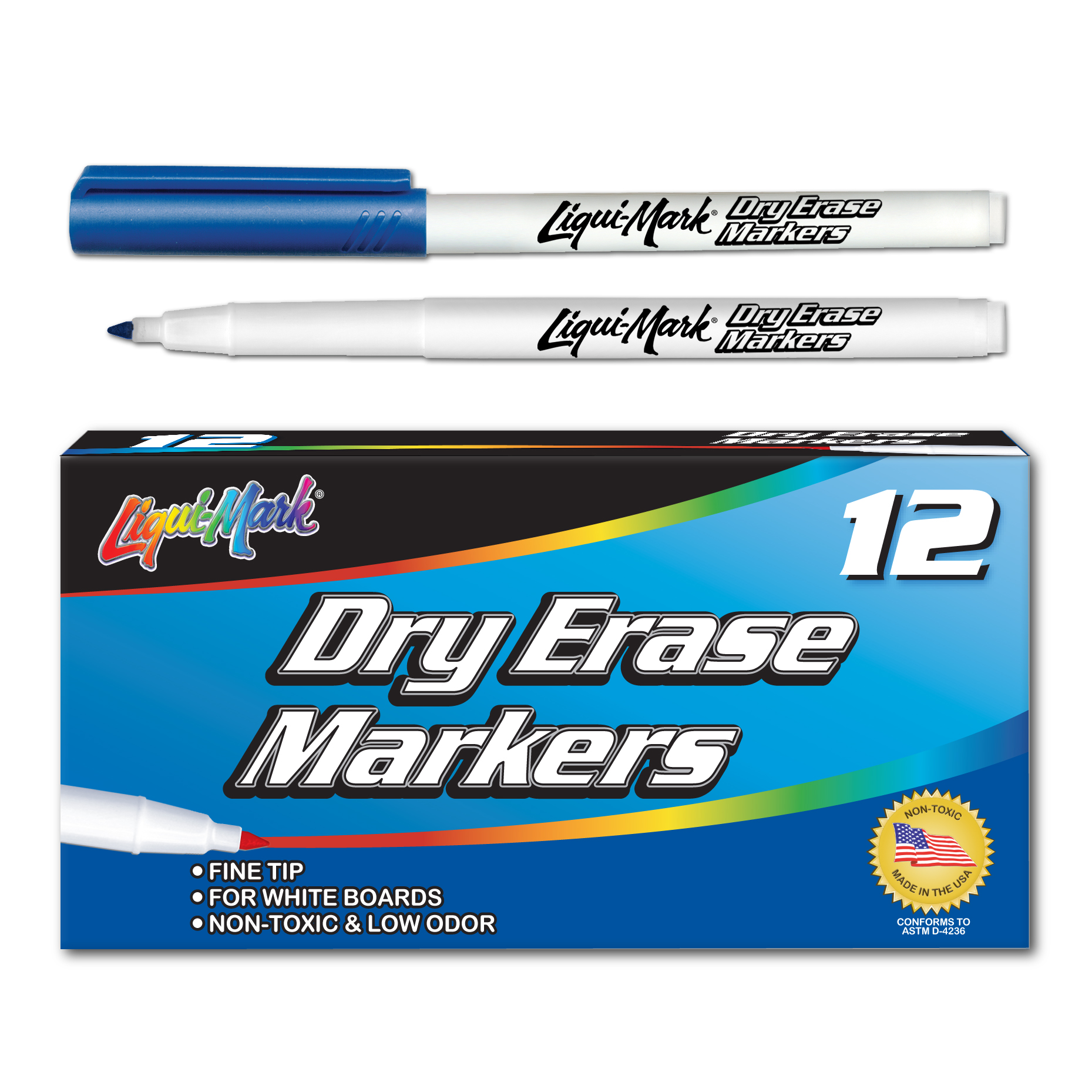 12 ct Fine Point, Pocket Dry Erase Markers- Blue