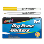 12 ct Fine Point, Pocket Dry Erase Markers- Yellow
