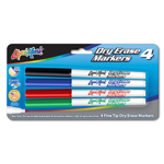 4 ct Fine Tip Dry Erase Markers - Assorted