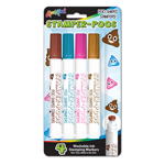 4 ct Stamper-Poos� - Poo Shaped Washable Ink Stamping Markers