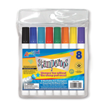 8 ct Stamperoos, Washable Stamping Markers