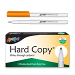 12 ct Hard Copy Markers - Orange