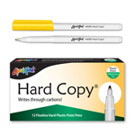 12 ct Hard Copy Markers - Yellow