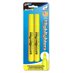 2 ct Broadline Fluorescent Highlighters - Yellow