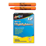 12 ct Broadline Fluorescent Highlighters - Orange