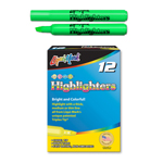 12 ct Broadline Fluorescent Highlighters - Green