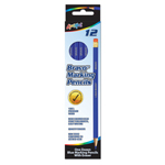 12 ct Bravo™ Marking Pencils with Eraser - Blue Lead