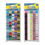 10 ct #2 HB Fashion Pencils with Eraser - Boys and Girls Designs
