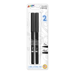 2 ct Hand Lettering Pens with Black Ink - 1 Fine, 1 Chisel