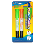 2 ct Washable Poster Markers - Green & Orange