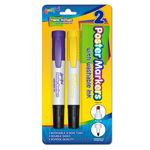 2 ct Washable Poster Markers - Purple & Yellow