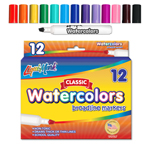 12 ct Broadline, Chisel Tip Watercolor Markers - Assorted