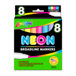 8 ct Broadline Neon Watercolor Markers - Assorted