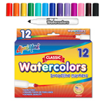 12 ct Broadline, Conical Tip Watercolor Markers - Assorted