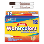 12 ct Broadline, Conical Tip Watercolor Markers - Brown