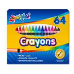 64 ct Crayons with Sharpener
