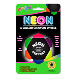 Crayo Craze® Neon Six Color Crayon Wheel