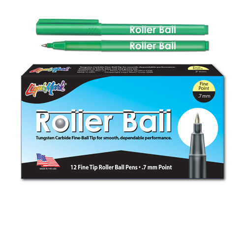 12 ct Roller Ball™, Fine Point Pen - Green