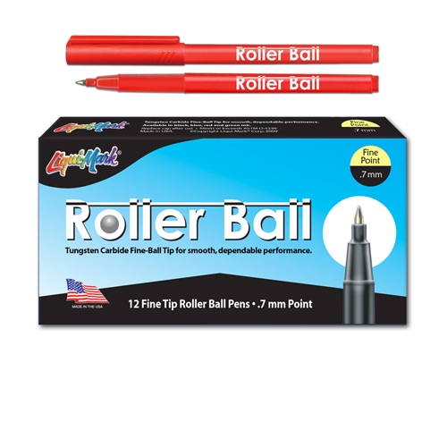12 ct Roller Ball™, Fine Point Pen - Red