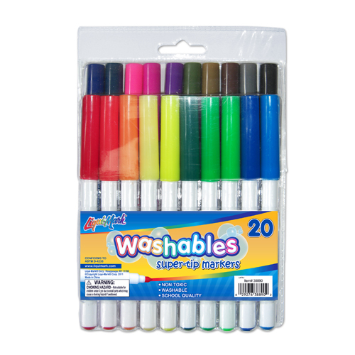20 ct Super Tip Washable Markers - Assorted