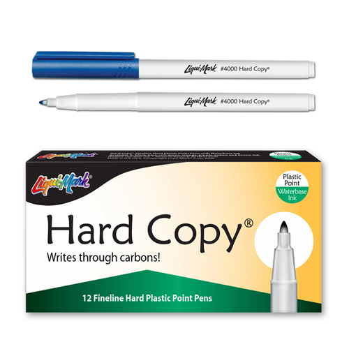 12 ct Hard Copy Markers - Blue