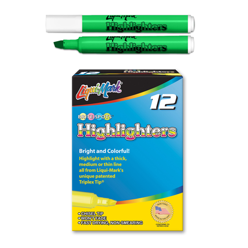 12 ct Broadline Highlighters - Green