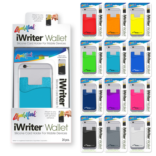 iWriter� Wallet Silicone Self Stick Phone Accessory