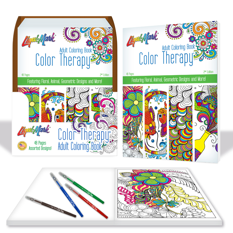 Product Details Color Therapy 48 Page Adult Coloring Book